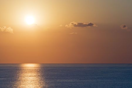 Sunrise captured from the balcony of a resort hotel in Myrtle Beach, South Carolina Stock Photo