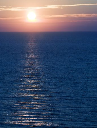 Sunrise captured from the balcony of a resort hotel in Myrtle Beach, South Carolina Stock Photo - 3739846