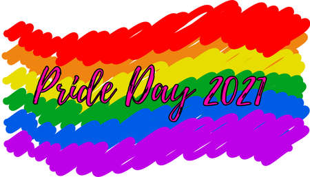 gay pride day party and celebration. pride flag.