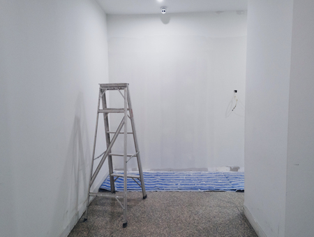 Painted white room.