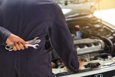 Pak Kret, Nonthaburi, Thailand. - On July 5, 2018 - Car repair technician.