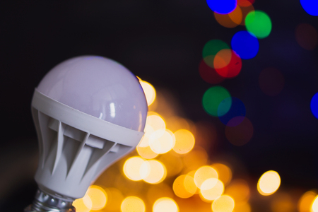 Close up of Bokeh background lamp.