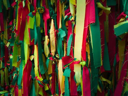 Lad Yao, Chatuchak, Thailand. - On August 18, 2018 - Colored cloth. Standard-Bild