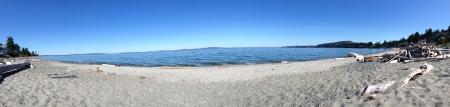 victoria bc: Beautiful beach in Victoria BC  Stock Photo