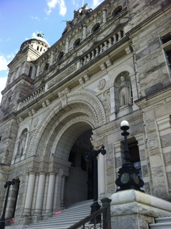 victoria bc: Parliament building in Victoria BC Stock Photo