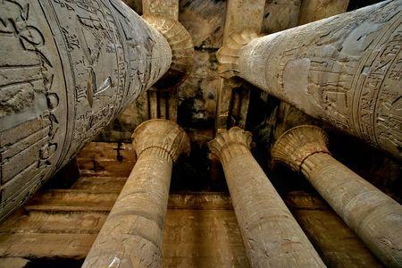 pyramid egypt: Horus temple at Edfu town - nile - Egypt