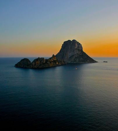 Ibiza Sunset at Es Vedra - Ibiza Stock Photo - 3099630