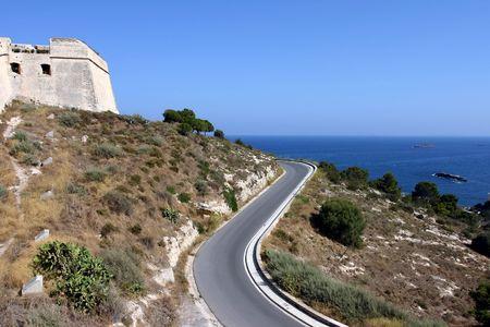 phenomena: ibiza dalt vila and road Stock Photo