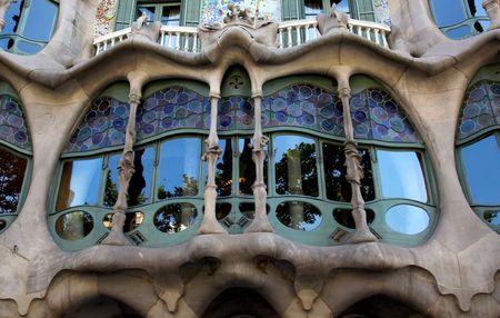 Casa Batllo - Antoni Gaudi - Barcelona Stock Photo - 5131012