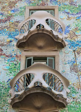 Casa Batllo - Antoni Gaudi - Barcelona Stock Photo - 5130967
