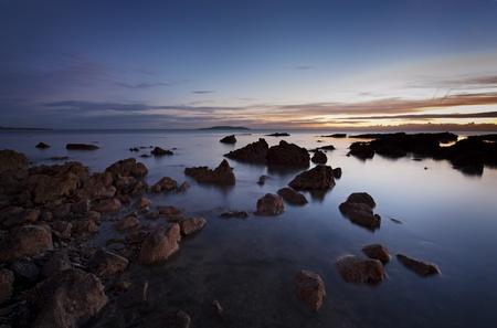 Irish shore minutes before sunrise, Dublin, Ireland Stock Photo - 13509109