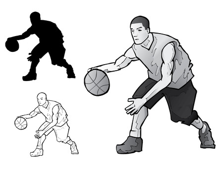dribbling: Basketball Player Dribbling