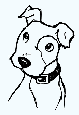 강아지 얼굴 스케치