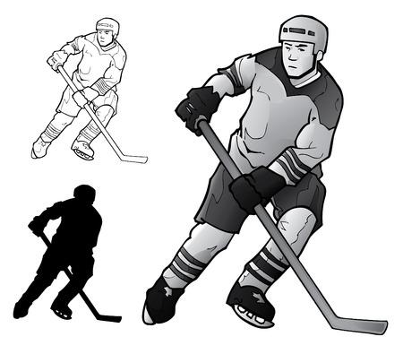 Joueur de hockey  Banque d'images - 7558892