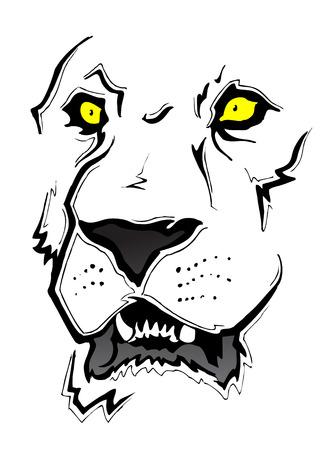 Esbozo de cara de León  Foto de archivo - 7558896