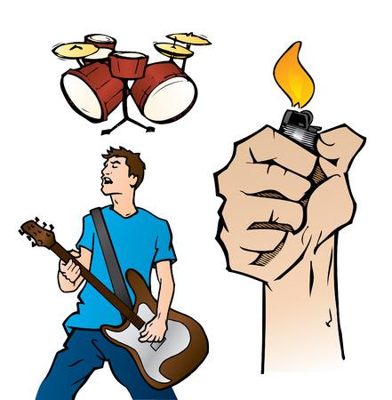 Live Music Illustration Illustration