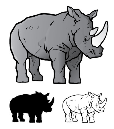 nashorn: Rhino Illustration Illustration