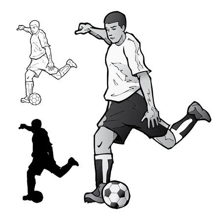 Voet bal speler