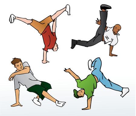 Breakdancing Illustration