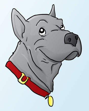 cartoon dog: Great Dane Cartoon