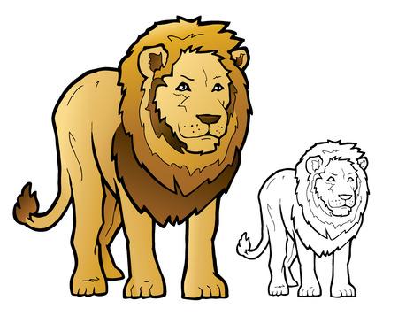 fleischfressende pflanze: Lion-Illustration