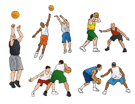 Basketball Defense & Shooting Illustration
