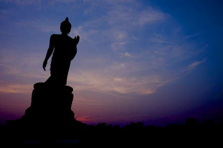 budha: Budha Silhouette with twilight background