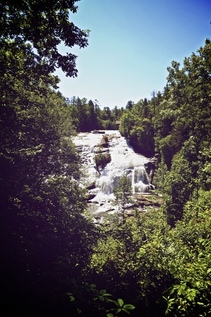 High Falls in Dupont State Foest Stock Photo