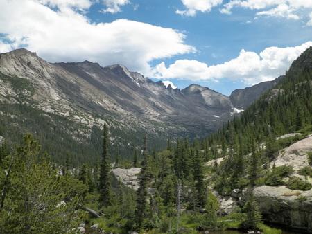 longs peak: Side view of Longs Peak in Colorado
