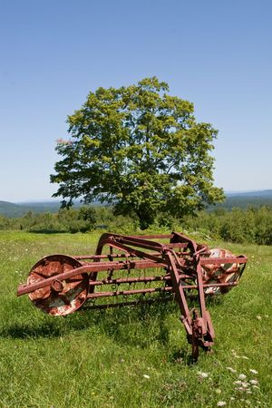 Rusty Hay Rake 版權商用圖片 - 4644936