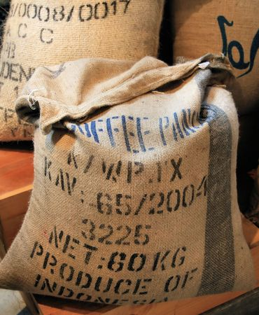 Bulk Coffee Beans Stock Photo