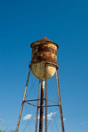 Rusty Water Tower Stock Photo