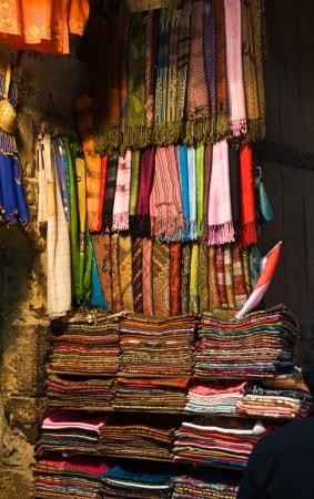 scarves: Scarves on Display Stock Photo