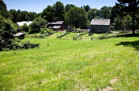 19th-Century Farm Фото со стока