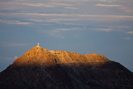 Mount Cristo Rey at Sunrise Stock Photo - 7493211