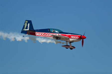 EL PASO � OCTOBER 21:  Tim Weber puts on an aerial display at Fort Bliss, Biggs Airfield, during the practice session at the 30th Anniversary Amigo Airsho on October 21, 2011 in El Paso, Texas.