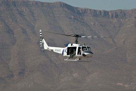 EL PASO � OCTOBER 21:  CBP puts on an aerial display at Fort Bliss, Biggs Airfield, during the practice session at the 30th Anniversary Amigo Airsho on October 21, 2011 in El Paso, Texas.