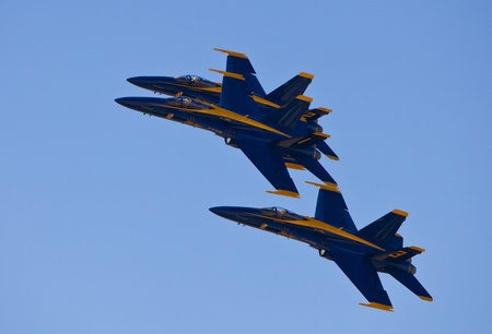 EL PASO � OCTOBER 22:  Blue Angels put on an aerial display at Fort Bliss, Biggs Airfield, during the 30th Anniversary Amigo Airsho on October 22, 2011 at El Paso, Texas.