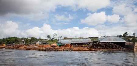 rio amazonas: Madera jardín