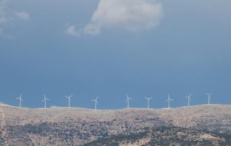 Windmill Turbines on a Hill