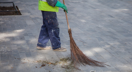 Old Fashioned Tree Branch Broom