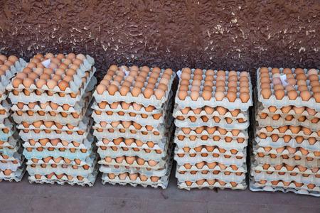 Crates of eggs for sale in the Calle El Comercio, Granada, Nicaragua, 3 Mar 2016