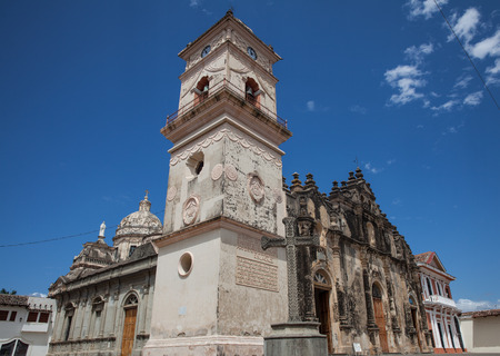 The Iglesia de La Merced Church with its famous bell tower in Granada, Nicaragua, 5 Mar 2016