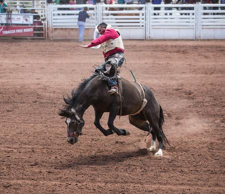 Professional Rodeo at the Mescalero Apache Ceremonial & Rodeo grounds, Mescalero, New Mexico, America - 2 Jul 2016