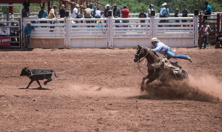 Professional Rodeo at the Mescalero Apache Ceremonial & Rodeo grounds, Mescalero, New Mexico, America - 3 Jul 2016