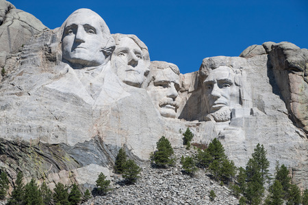 Mount Rushmore Monument in the Black Hills, Rapid City, South Dakota, America - July 2016 Stock Photo