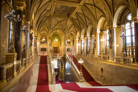 Grand Staircase in Hungarian Parliament