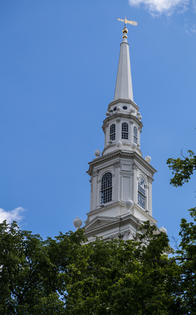 Church steeple on the First Baptist Church in America