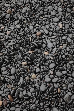 Black Stones on a Beach