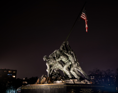 Memorial depicting the raising of the flag at Iwo Jima - 8 MAR 2019